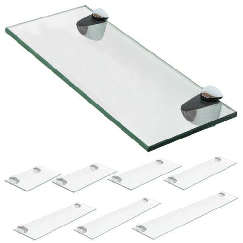 Mensola in vetro Mensola Scaffale da bagno Vetro trasparente smerigliato V2Aox