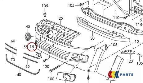 NEW GENUINE VW AMAROK FRONT BUMPER TOW HOOK EYE COVER CAP PRIMED 2HH807155AGRU