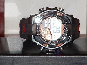Pre-Owned-Men-s-Black-amp-Orange-Armitron-40-8188-Digital-Quartz-Watch