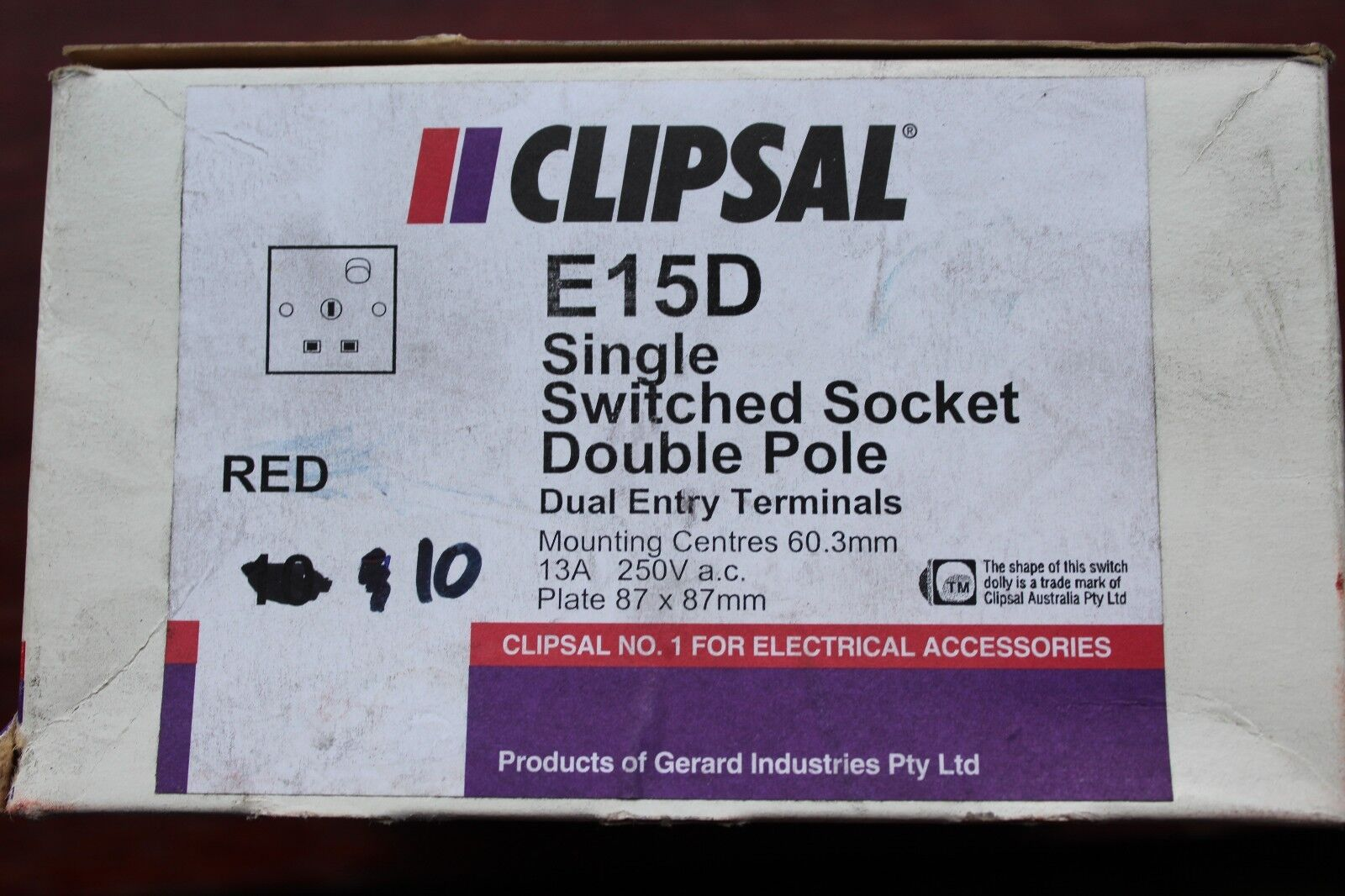 Clipsal White 1 Gang 13a Dp Switched Socket Outlet E15d Clearance 3 Way Switch Ebay