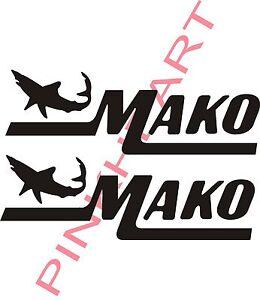 Mako  23 boat decal stickers graphic logo decal flats boats mako USA 23