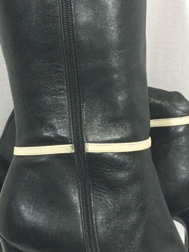 impertinent noir 2 West 8 boucle blanche en femmes 1 bottes Nine cuir 80mwNvn