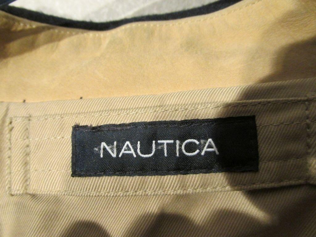 Z8451 Men's Nautica Beige & Navy Blue Reversible … - image 3