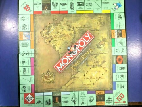 Game Board 2003 Lord of the Rings Trilogy Edition Monopoly Replacement Pieces