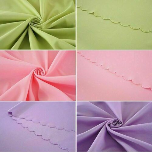 Solid Tablecloth Table Cover Cloth Banquet Wedding Party Rectangle Round Fabric
