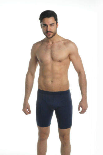 2 PAIRS MULTI PACK LONG BOXERS QUALITY MEN/'S SOFT COTTON COLORS ALL SIZES