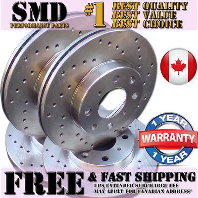 A0066 Dodge Ram 1500 02 03 04 05 CROSS DRILLED Brake Rotors Ceramic Pads F+R