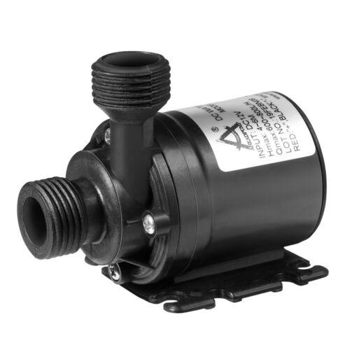 Brushless Tauchwasserpumpe 800L H 5 Mt Miniatur Booster Tauchpumpe DC 12 V Neu