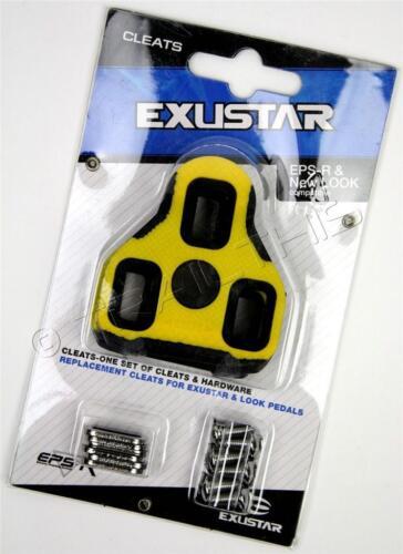 0-Degree Float Road Bike Cleats fits Look Keo Black Exustar E-BLK11 Fixed