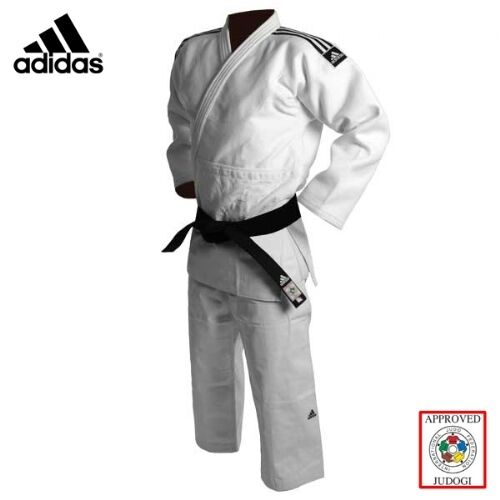 Adidas Judo Suit Champion 2 Gi 750g White Premium Slim Fit IJF Approved Uniform