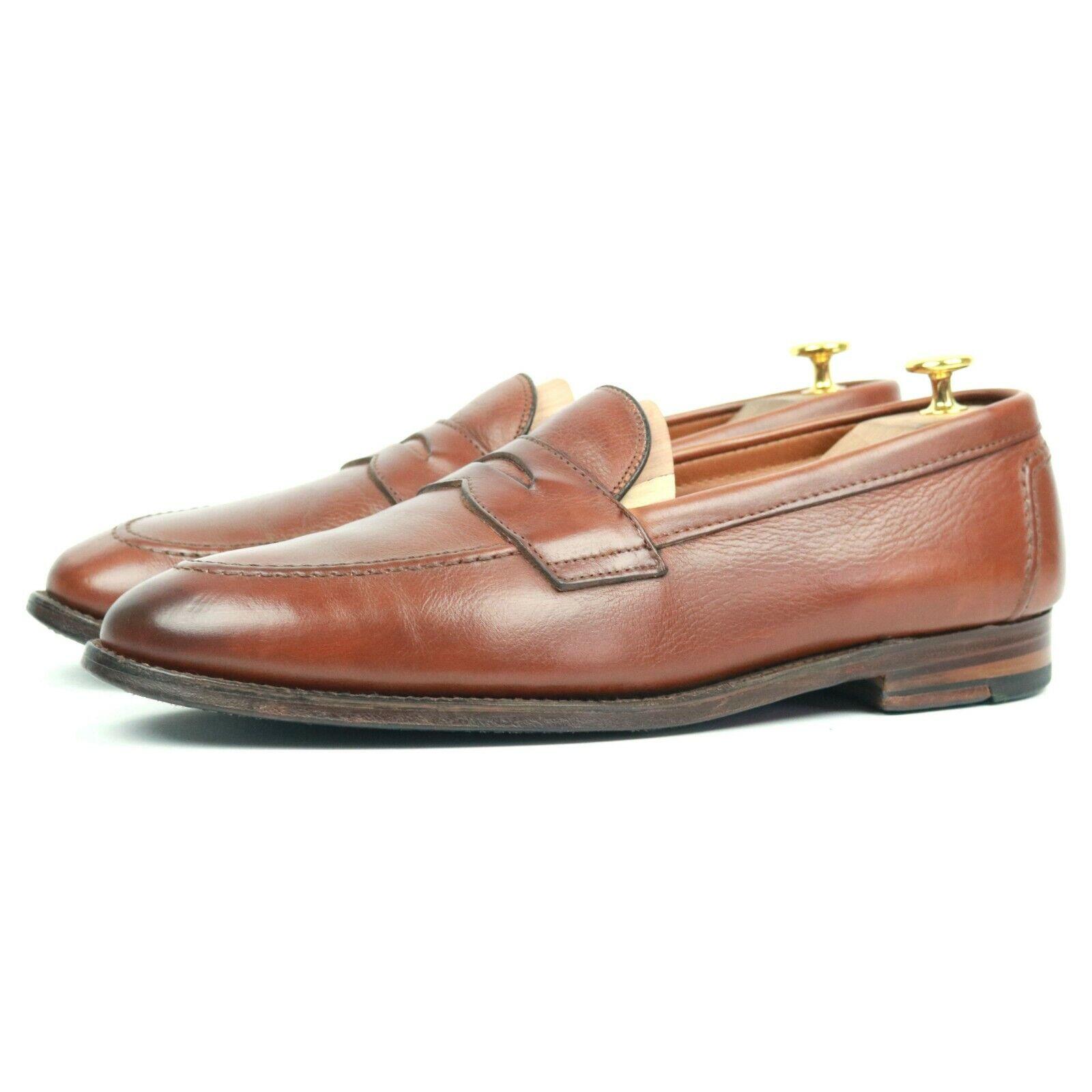 Alden braun Leather Penny Loafers UK 11 US 11.5 EU 45.5