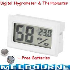 DIGITAL LCD HYGROMETER HUMIDITY METER TESTER REPTILE TEMPERATURE THERMOMETER #WI