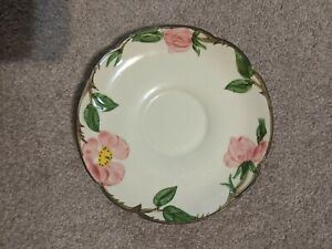 ONE-NM-VINTAGE-1953-1958-FRANCISCAN-WARE-USA-CHINA-5-3-4-034-DESERT-ROSE-SAUCER