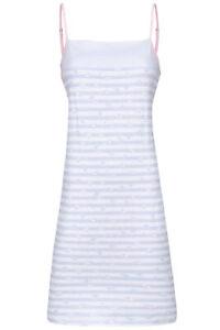ringella damen nachthemd ohne arm 211029 bleu gr. 38 s