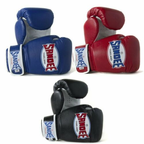 Sandee Kids Boxing Gloves Blue Red Black 4oz 6oz 8oz Muay Thai Authentic Gloves