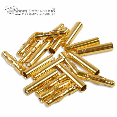 10x Goldkontakt Stecker 6,0 mm