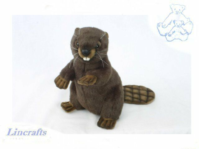 Hansa Sitting Beaver 3355 Plush Soft Toy Sold by Lincrafts Established 1993