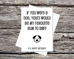 Funny-HAPPY-BIRTHDAY-CARD-From-the-Dog-si-vous-etiez-un-chien-je-voudrais-sentir-votre-Bum