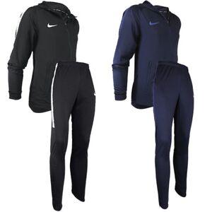 Details zu Nike Dri Fit Squad Tracksuit Herren Trainingsanzug schwarz blau Sportanzug NEU