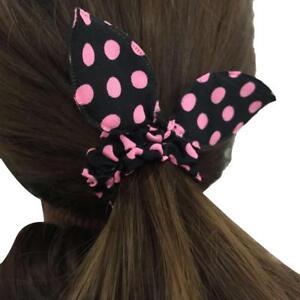 20Pcs-Women-Girl-Rabbit-Ear-Scrunchie-Hair-Band-Rope-Elastic-Ponytail-Holder-HOT