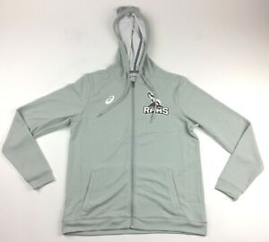 Details about Asics Highland Rams Full Zip Jacket Hoodie Pockets Women's Medium Grey A032A543