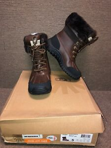 2e7659779cd UGG Adirondack II Obsidian Brown Waterproof Leather Snow Boots Size ...
