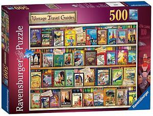 Ravensburger-vintage-Guides-de-voyage-500pc-Jigsaw-Puzzle-14752
