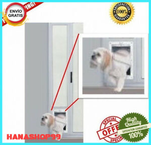 Patio Panel Pet Door Dog Cat Sliding Glass Aluminum Large Flap Exterior Doggie