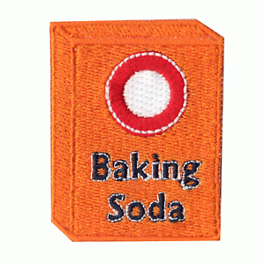 Baking Soda Box Logo Embroidered Iron on Patch
