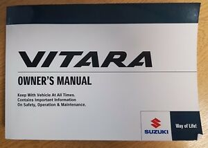 genuine suzuki vitara owners manual handbook 2015 2017 book a 184 ebay rh ebay co uk grand vitara owners manual download grand vitara service manual 2007
