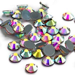 Top Crystal AB DMC Iron On Hotfix Rhinestones Flatback White Clear ... 7da6800c1a90
