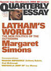 Latham's World: The New Politics of the Outsiders by Margaret A. Simons (Paperback, 2004)
