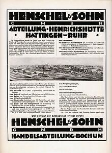Henschel-Henrichshuette-Hattingen-Reklame-1925-Hochofen-Kokerei-Stahlwerk-Huette