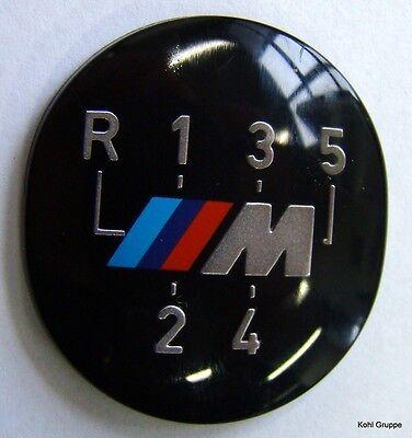 BMW M Emblem Plakette Schaltknauf selbstklebend