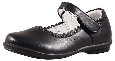 SKOEX Girls Mary Jane Shoes Uniform School Dress Flats with Black US Size 1M