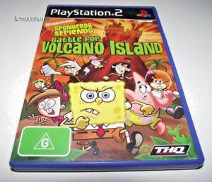 spongebob and friends battle for volcano island
