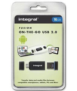 Integral-USB-OTG-Adaptador-con-16gb-Fusion-2-0-unidad-flash-USB-INCLUIDO