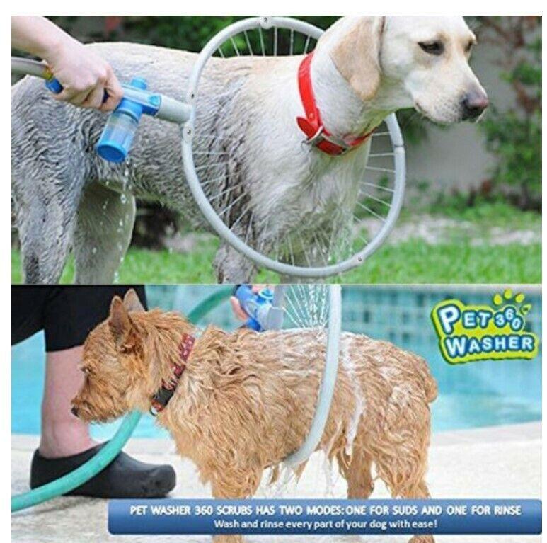 Pets! 360 Degree Dog Cleaner Shower Sprayer Scrubber 62x41cm
