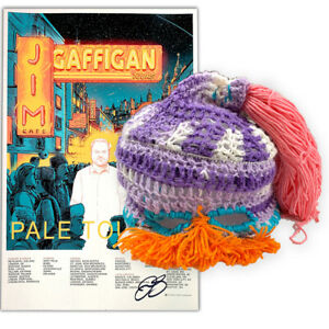 Jim-Gaffigan-Signed-Crocheted-Hat-and-Signed-034-Pale-Tourist-034-Tour-Poster