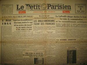 WW2-1er-MAI-BOMBARDEMENTS-TOULON-SOMAIN-CAMBRAI-DEAT-LE-PETIT-PARISIEN-2-05-1944