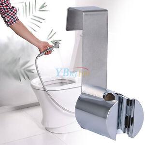 Stainless-Steel-ABS-Holder-Hook-Hanger-For-Hand-Shower-Toilet-Bidet-Sprayer-Home