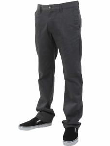 Pantalones Volcom Condenadamente Chino Slim Fit Carbon Para Hombre Talla 34 X 32 Nuevo Ebay