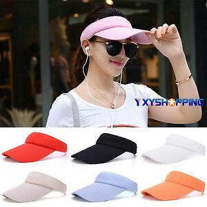 734423b4640a Image is loading Women-Golf-Tennis-Cap-Headband-Wide-Brim-Adjustable-