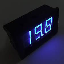 Digital Blue LED Voltmeter 3V - 30V Car Auto Gauge Voltage Volt Panel Meter