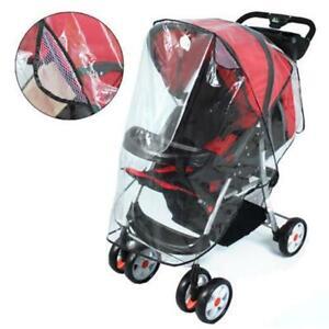 Quality-Universal-Buggy-Pushchair-Stroller-Pram-Transparent-Rain-Cover-Vent-Baby