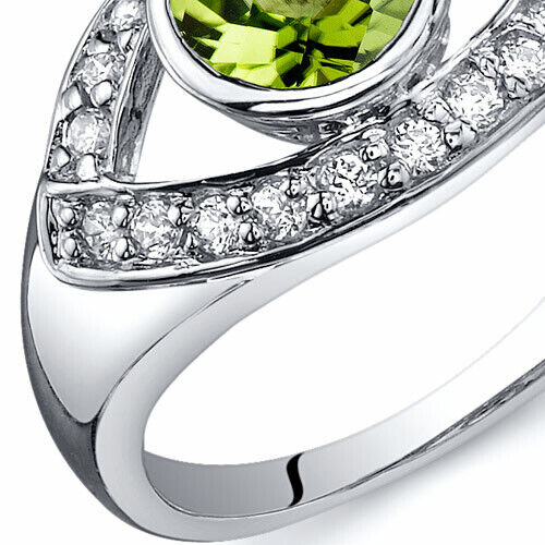 Captivating Curves 0.75 cts Peridot Ring Sterling Silver