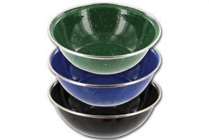 Highlander Deluxe Enamel Mug Cup Camping Vintage Style Black Green Blue