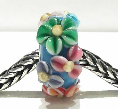 MURANO GLASS BEAD AUTHENTIC 925 STERLING SILVER FIT EUROPEAN CHARM BEADS 2804