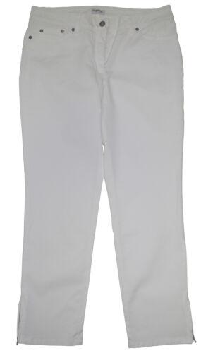21 Zipper 7//8 Stretchjeans enge Stretch Hose Gr Jeans weiß Kurzgr 42