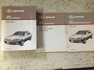 1998 lexus es300 es 300 service shop repair manual set w wiring book features ebay. Black Bedroom Furniture Sets. Home Design Ideas